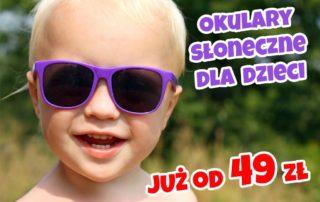Okulary słoneczne dla dzieci